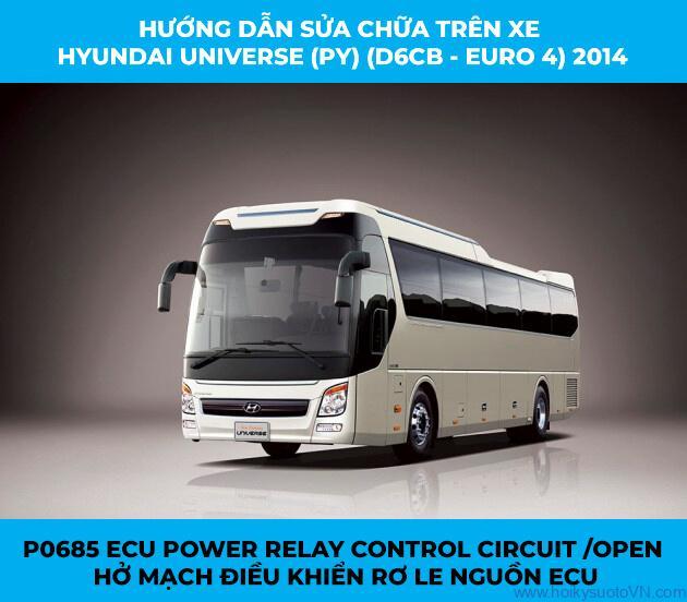 P0685 ECU Power Relay Control Circuit /Open (Hở mạch điều khiển Rơ le nguồn ECU)